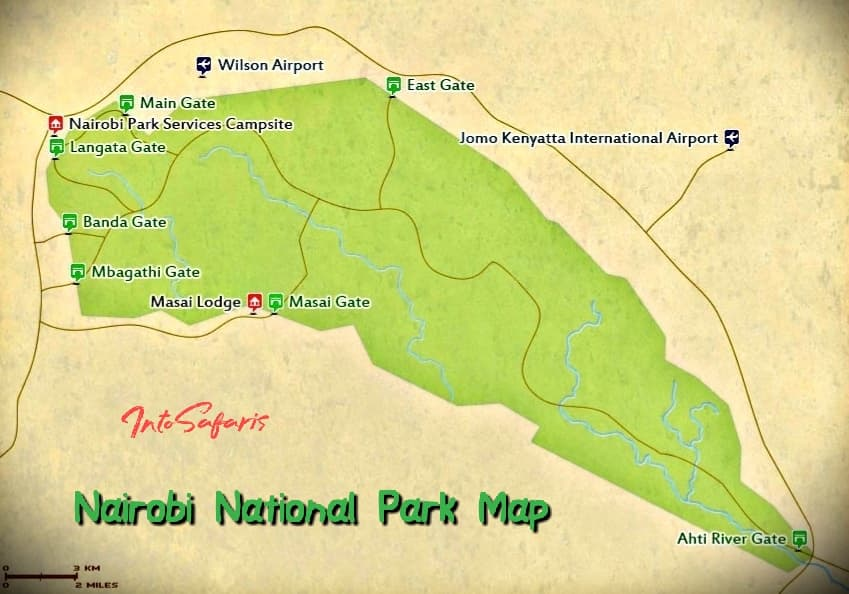 Nairobi National Park Map