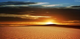 Kalahari`s Desert sunset, one of the top Deserts in Africa