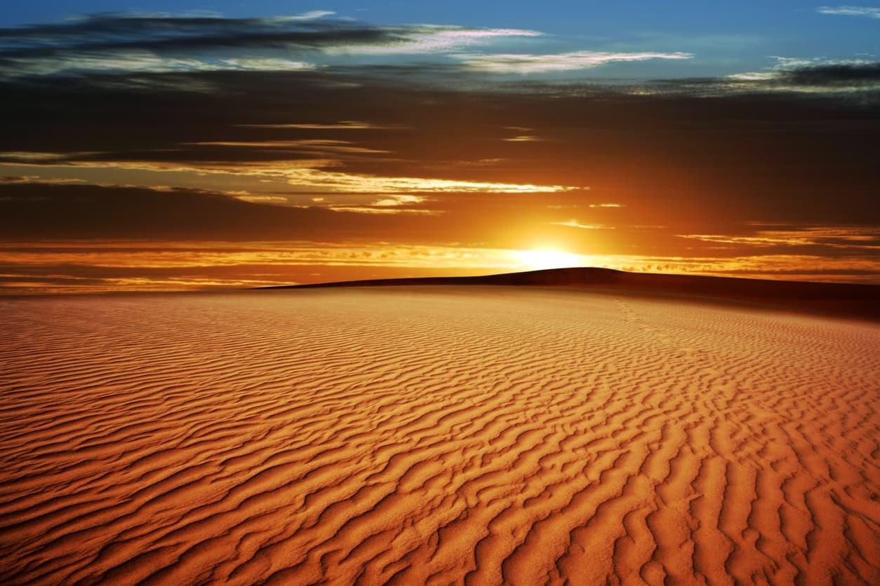 Kalahari`s Desert sunset, one of the top Deserts in Africa