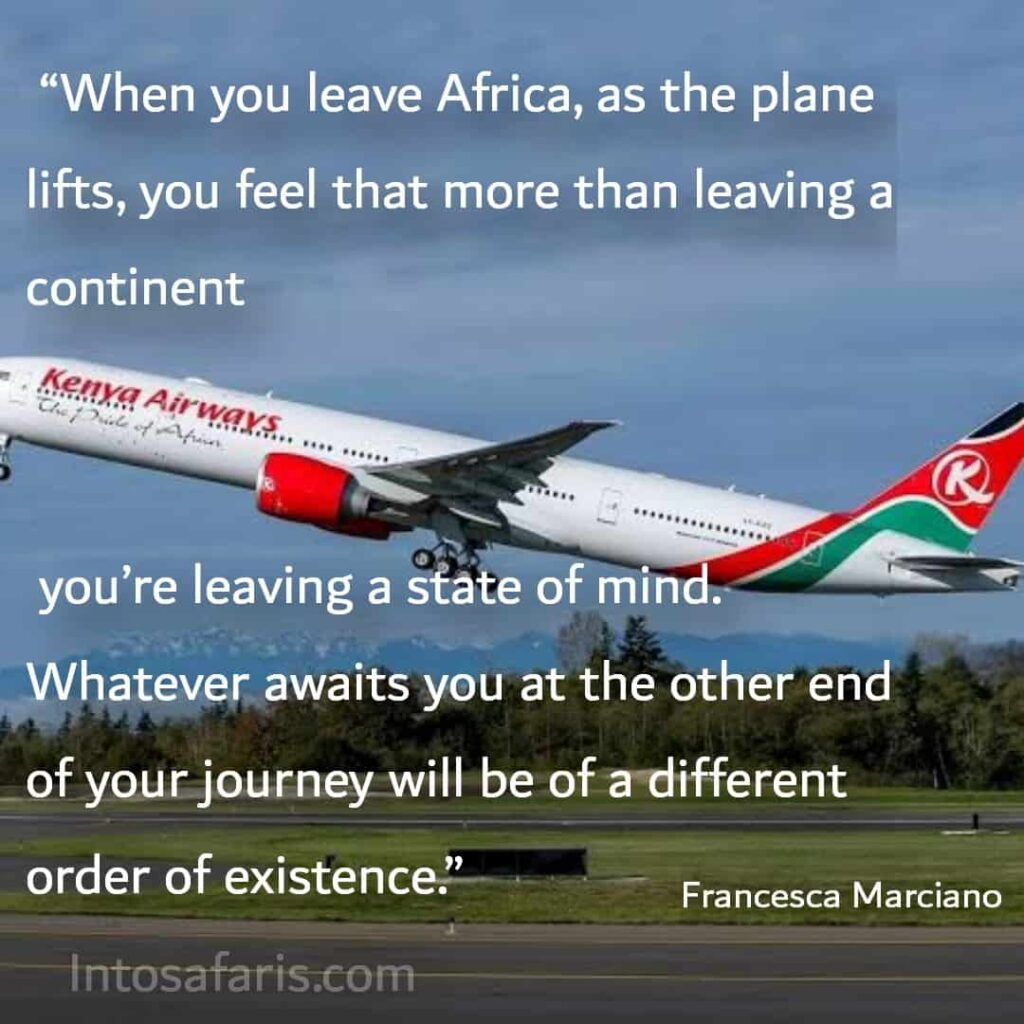 When you leave Africa (Best Travel quotes)