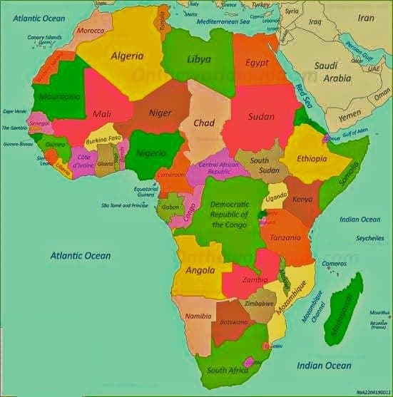 African Map (Image: World Map)