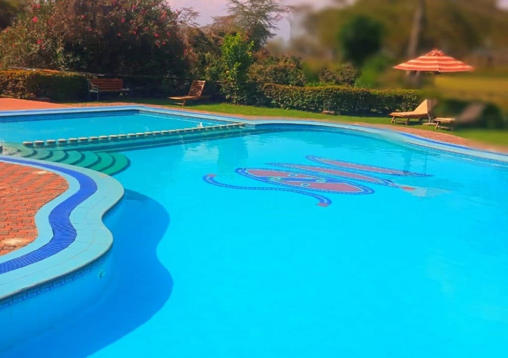Swimming pool at Lake Naivasha Sopa Lake