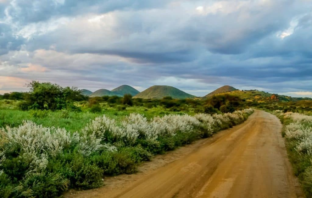 Five Sister`s Hill at Tsavo National Park