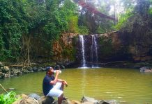 One of the Tourist Attractions in Embu County (Ndunda Falls)