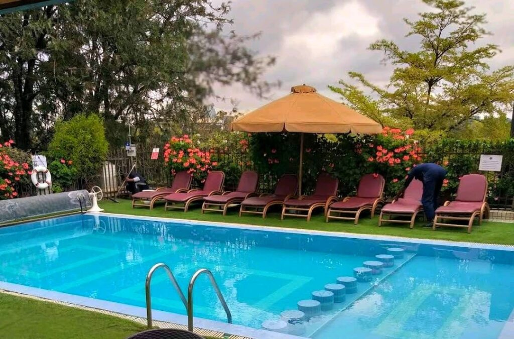 One of the heated Swimming pools in Nairobi The Clarence House