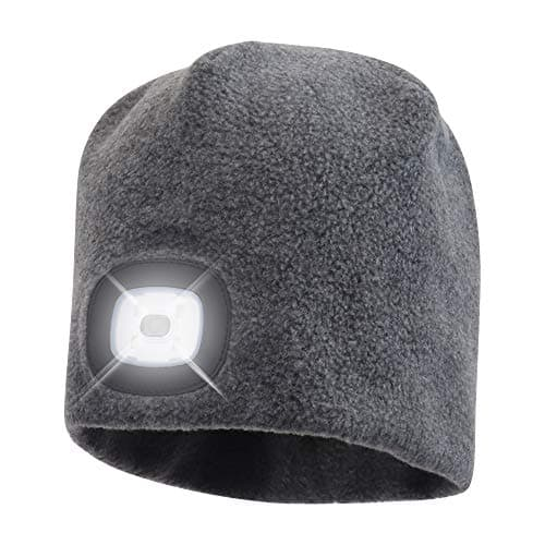 Travel Gift for Men- LED Beanie Hat with Light.