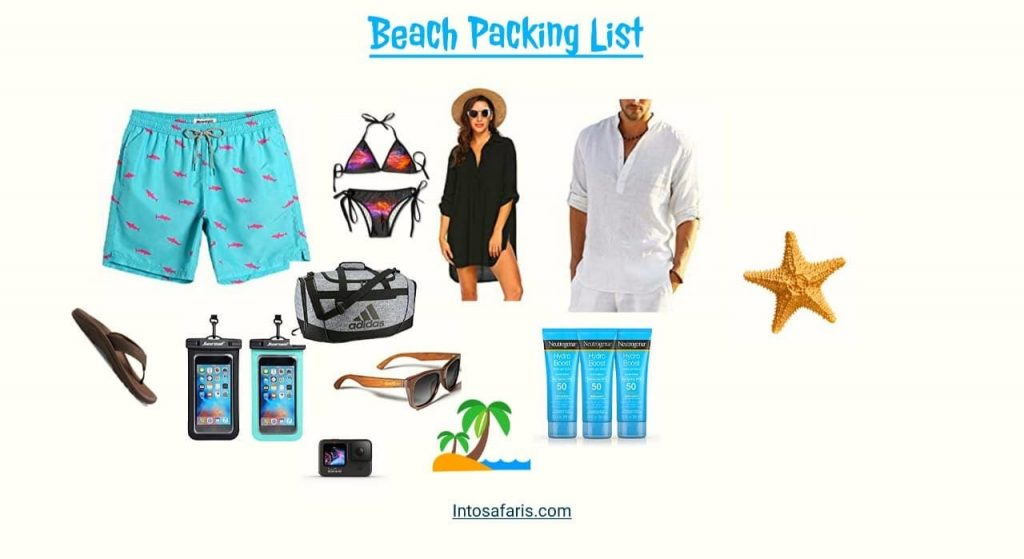 Packing list for beach vacation with Boyfriend