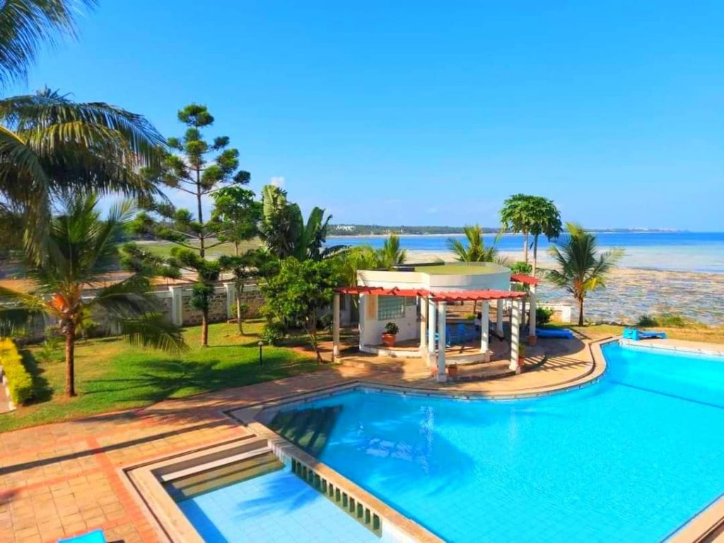 The Tausi Almasi one of the beach front cottages and villas in Mombasa North coast.