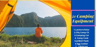 Camping equipment that are not Cliché