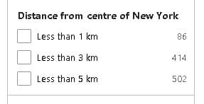 Choosing distance from Location