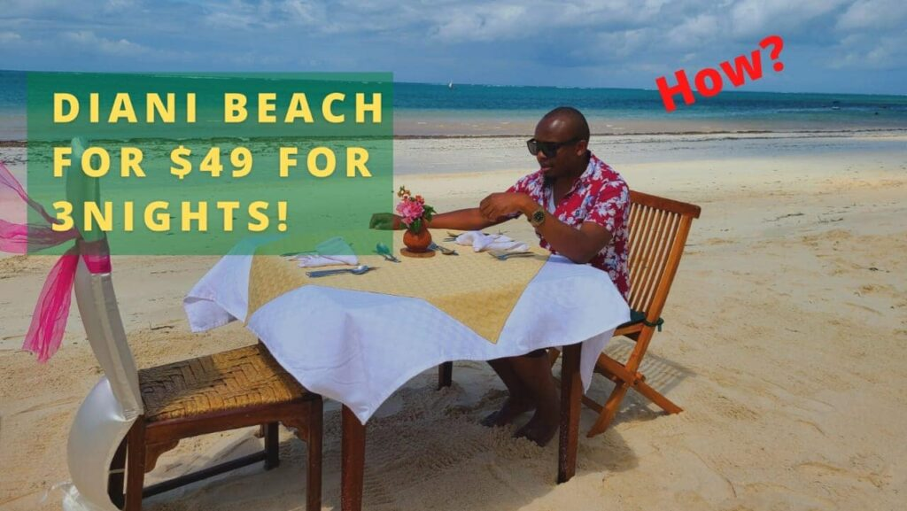 How to travel to Mombasa Diani beach on Budget