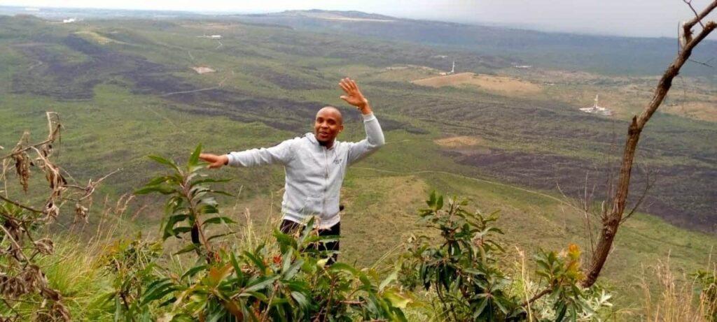 Menegai Crater Verdant Valley view